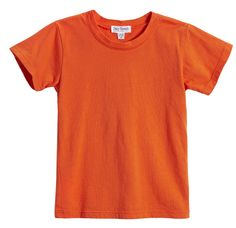 Daily Threads premium signature short sleeve jersey t-shirt in Orange, one of our hot new spring colors. This tee comes in a variety of bold bright colors that are great for throwing on with our Daily Threads trakkie pant or jeans, or layered under something dressier. This will go with anything! Sizes 3/6m to 14, $19