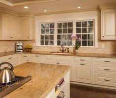 Transitional Island Style Cream kitchen, cream cabinets, $50,000 - $100,000, Jennifer Howard, JWH Design  Cabinetry,