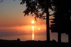 October sunrise on Lake Winnebago.