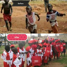UCHUMI tracks down kids to Uganda with 'goodie' bags. | Urban.KE