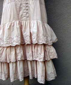 petticoat -- love the closures/ link is broken but gorgeous image