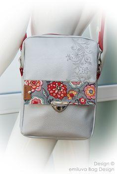 """""""Herrentasche"""" - hier in der Ladysausführung von emiluva Bag Design - eine funktionale Tasche für Büro, Uni oder sportliche Damen. Bag Making, Lady, Uni, House Design, Shoulder Bag, How To Make, Fashion, Diy Tutorial, Designer Handbags"""