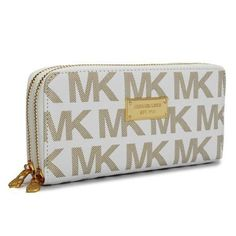 Michael Kors Outlet Continental Logo Large Ivory Wallets -save up 79% off michael  kors