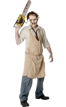 Texas Chainsaw Massacre's infamous Leatherface makes a sinister selection for a 70s themed party...(£23.99)