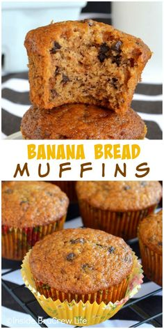 Adding chocolate chips makes these banana bread muffins one of our absolute favorite breakfast muffins.