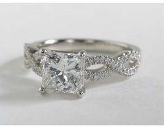 2.08 Carat Diamond Infinity Twist Micropavé Diamond Engagement Ring   Blue Nile Engagement Rings