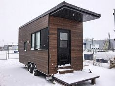 The Sequoia is a 220 SF Modern Tiny House by Quebec Company, Minimaliste - Tiny Houses