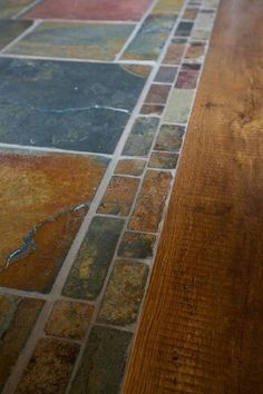 stone entryway transition to wood floor - Google Search