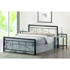 Lara Swirl Metal Bed Frame – Next Day Delivery Lara Swirl Metal Bed Frame from WorldStores: Everything For The Home