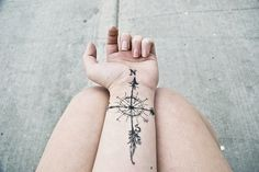 always wanted a compass tattoo