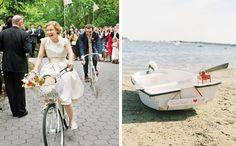 Wedding getaway cars via Coastal Bride