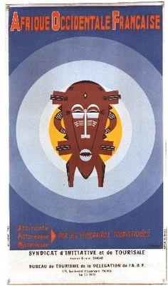 Charlas - Afrique Occidentale Française - French African tourism vintage poster