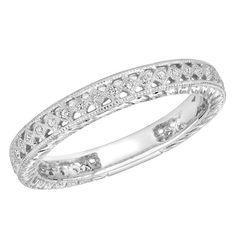 Majesty Diamonds - 1/7 CTW Diamond Stackable Wedding Anniversary Band Ring in 14K White Gold #wedding #anniversary #pretty