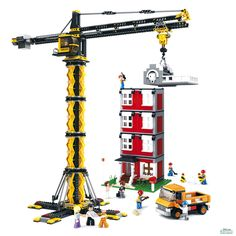 Costruzioni GRU TELESCOPICA CON PALAZZO mattoncini Sluban 0551 Per bambin