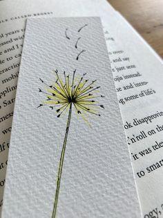 Watercolor Bookmarks, Watercolor Tips, Watercolor Flowers, Watercolor Paper, Bookmarks For Books, Creative Bookmarks, Diy Bookmarks, Art Drawings Sketches, Cute Drawings
