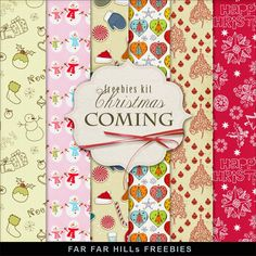 Far Far Hill - Free database of digital illustrations and papers: New Freebies Kit of Winter Backgrounds - Christmas...