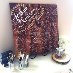"Forever Fireflying: Wedding: DIY wood ""guestbook"" sign // guest log 