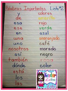 Bilingual Teacher Clubhouse: Spanish Sight Words {Kinder}