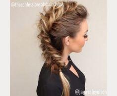 braided faux hawk prom hair