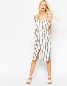 Buy ASOS Stripe Casual Dress in Natural Fibre with Rope Detail at ASOS. With free delivery and return options (Ts&Cs apply), online shopping has never been so easy. Get the latest trends with ASOS now. Day Dresses, Dress Outfits, Casual Dresses, Fashion Me Now, Latest Fashion Clothes, Asos, Nautical Dress, Light Dress, Maxi Skirts