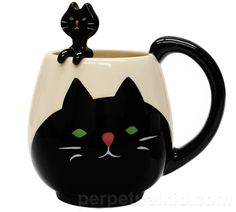 CAT MUG AND SPOON - $22