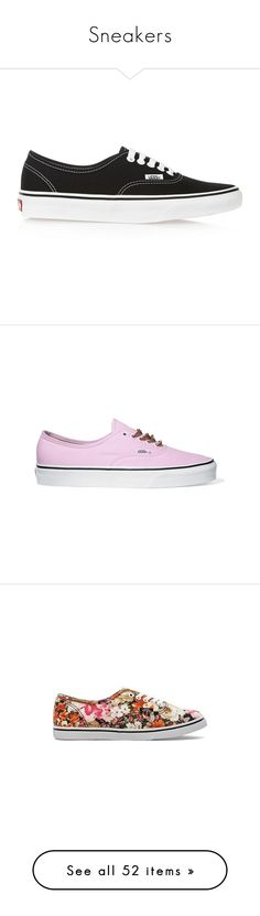 """""""Sneakers"""" by giovanna1995 ❤ liked on Polyvore featuring Color, print, sneakers, ankle, coloured, shoes, vans, sapatilhas, suede sneakers and pink sneakers"""