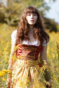 Alpine Sunshine-German Bavarian Summer Dirndle Dress