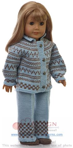Warm knitting clothes for doll Emmelina