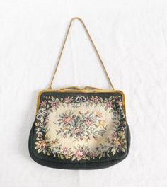 1950's Vintage Tapestry Purse with Roses Made in Western Germany by MyVintageHatShop, $23.00