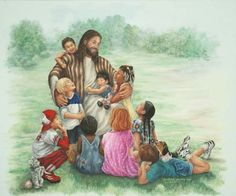 Jesus and the Little Children Mural