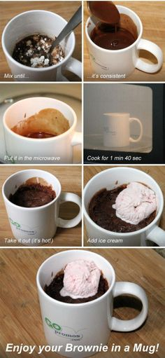 I just made this. It was good. Also gooey Imageset is a recipe: Ingredients: • ¼ cup flour • ¼ cup sugar • 2 tbsp cocoa • pinch of salt • 3 tbsp water • 2 tbsp olive oil Steps: • Add all dry...