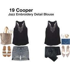 19 Cooper Jazz Embroidery Detail Blouse...love the black with the embroidery
