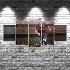 Lionel Messi Poster set Messi Barcelona Canvas Art Print, 5 piece large canvas, multi panel wall art canvas, home decoration, room decor Football Player Messi, Football Players Images, Football Soccer, Messi Pictures, Messi Photos, Messi Beard, Messi Poster, Messi News, Messi Goals
