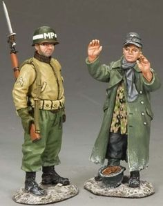 World War II U.S. Battle of the Bulge BBA043 U.S. M.P. with Teenage Prisoner - Made by King and Country Military Miniatures and Models. Factory made, hand assembled, painted and boxed in a padded decorative box. Excellent gift for the enthusiast.
