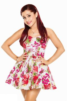 Ariana Grande rocks the  dress and the Hair style