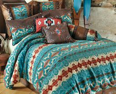 Save - on all Western Bedding and Comforter Sets at Lone Star Western Decor. Your source for discount pricing on cowboy bed sets and rustic comforters. Bed Sets, Western Rooms, Turquoise Bedding, Turquoise Room, Rustic Bedding, Country Bedding, Western Furniture, Rustic Furniture, Italian Furniture