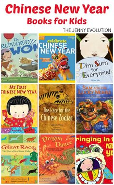 Chinese New Year Books for Kids. Perfect for celebrating the Chinese New Year with children!