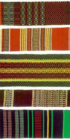 Wool weaving patterns from Alentejo