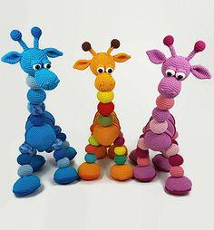 Ravelry: Amalka Giraffe pattern by Hippe Haaksels and Hana Prokopy Crochet Sheep, Giraffe Crochet, Giraffe Pattern, Plush Pattern, Crochet Motif, Crochet Animals, Crochet Dolls, Crochet Patterns, Amigurumi Toys