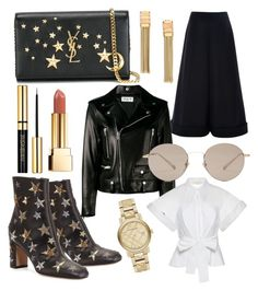 """""""Lawrence Park Party"""" by ryanreeves ❤ liked on Polyvore featuring Yves Saint Laurent, Delpozo, Lanvin, Valentino, Gucci and Burberry"""