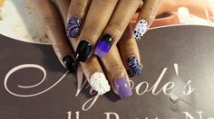 Chanel Flowers w/ Abstract - Nail Art Gallery