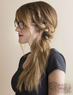 Not every morning can be spent drying and curling your hair. Check out these 10 easy lazy day hairstyles for hair that works even when you don't want to. Pretty Braided Hairstyles, Lazy Day Hairstyles, Party Hairstyles, Cute Hairstyles, Braided Ponytail, Teenage Hairstyles, Hairstyles 2016, Wedding Hairstyles, Hairstyle Ideas