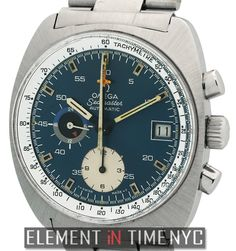 Omega Seamaster Vintage Chronograph 38mm iN Stainless Steel With A Blue Dial From The Early 1970's  (176.007)