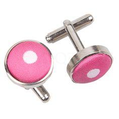 Polka Dot Hot Pink Cufflinks  http://www.dqt.co.uk/polka-dot-hot-pink-cufflinks.html