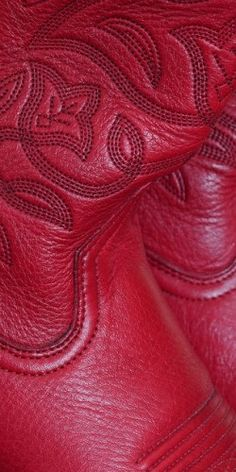 Close up of red cowboy boots!