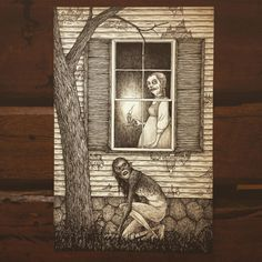 Spice - ''Somewhere innsmouth'' illustration by - john kenn mortensen Spooky Scary, Creepy Art, Arte Horror, Horror Art, Illustrations, Illustration Art, Arte Lowbrow, John Kenn, Arte Obscura
