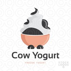A place for graphic designers to discuss work and life. Ice Cream Design, Make Your Logo, Social Media Design, Frozen Yogurt, Logo Inspiration, Business Cards, Cow, Milk, Packaging