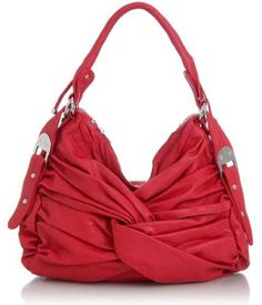 love this purse.  so much.  the wrap look is adorable, and in red....my perfect purse!