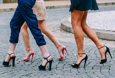 Street Style - Paris Fall 14 Couture - Heels - Photo by Tommy Ton - TheStyleDraft