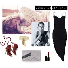 A fashion look from July 2015 featuring jersey dresses, clog shoes and zipper purse. Browse and shop related looks. Jennifer Lawrence Bangs, Polyvore, Stuff To Buy, Shopping, Collection, Design, Women, Fashion, Moda
